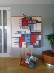 Elly Korteweg_wandkleden_abstract
