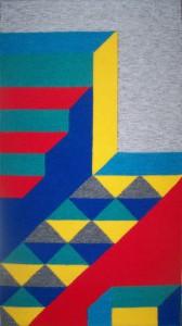 Wandkleed - handgeweven - abstract